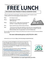 Free Lunch Summer Program