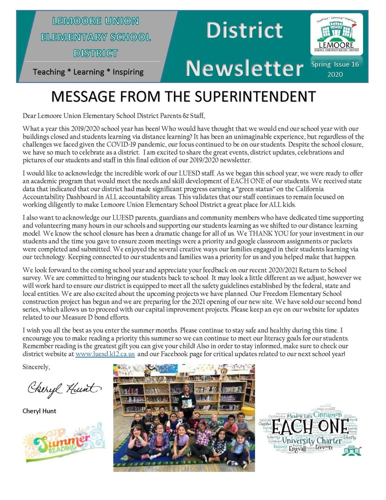 District Newsletter