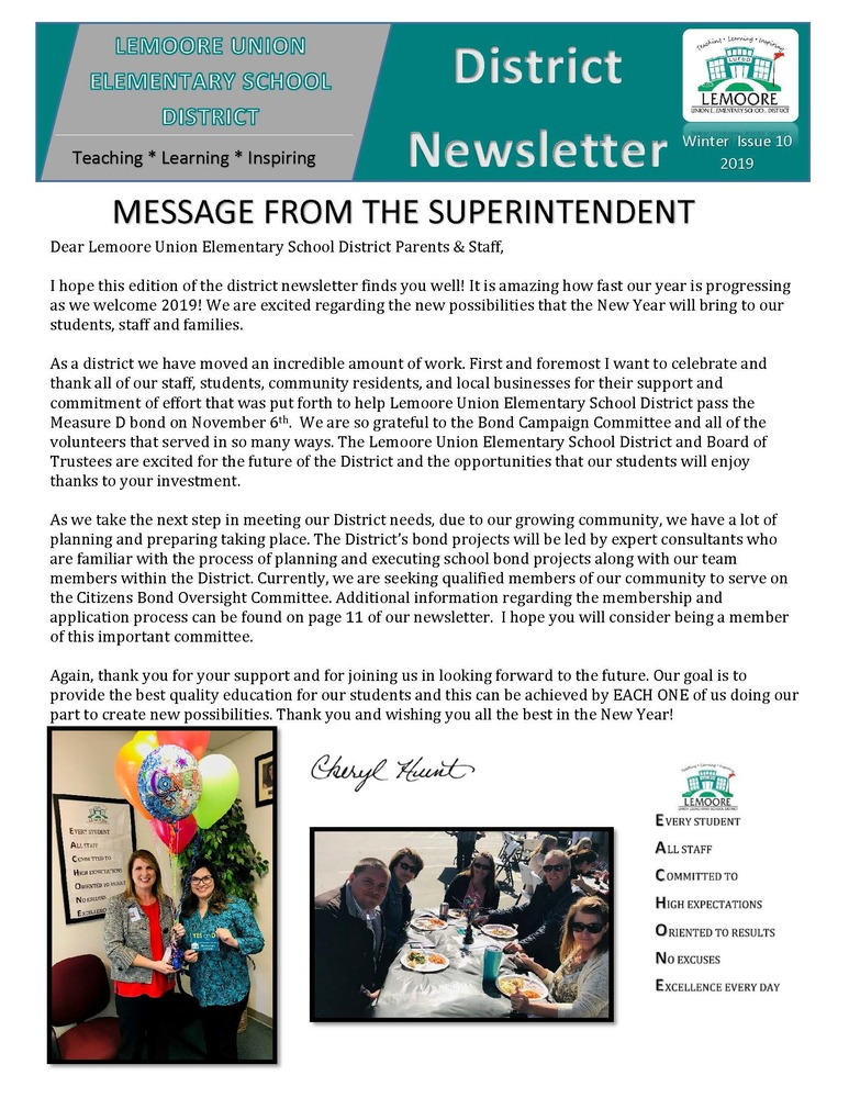 Jan 2019 Newsletter