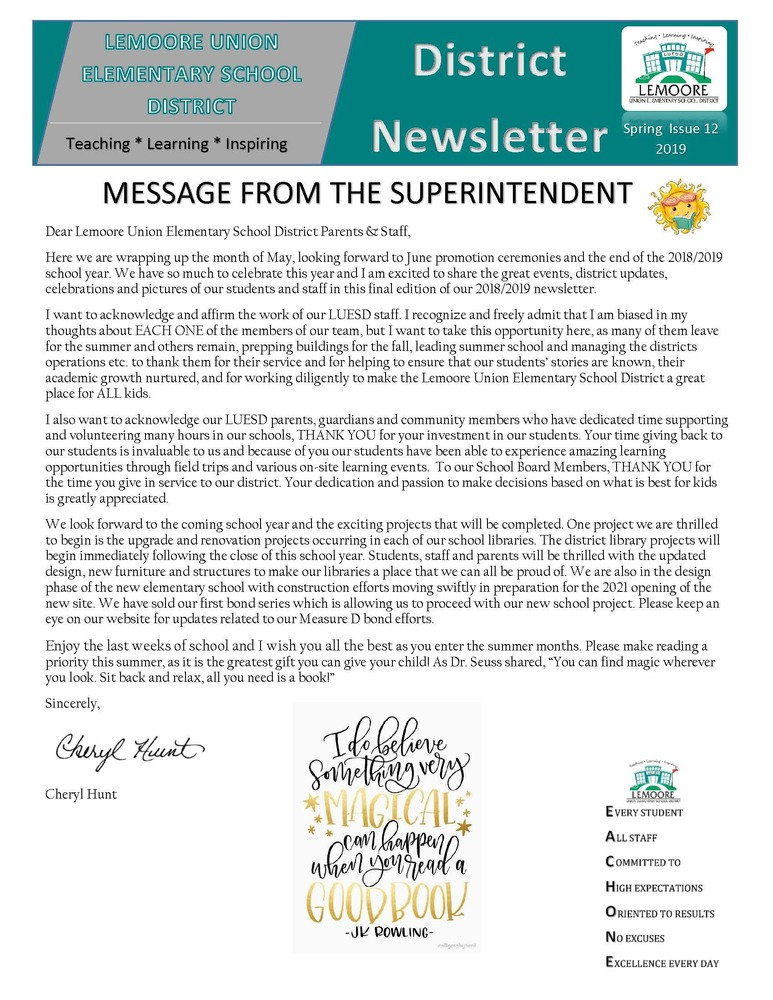 May District Newsletter