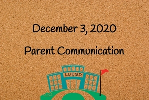 December 3 Parent Communication