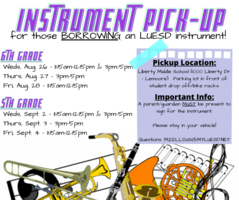 5th and 6th Grade Instrument Pick-Up