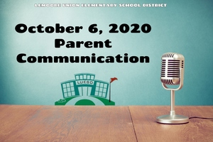 October 6, 2020 Parent Communication