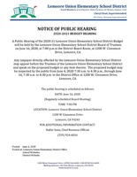 Budget Public Hearing Notice