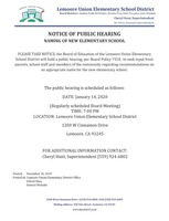 New School Naming Public Hearing