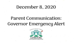 Governor Emergency Alert