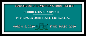 March 17 School Closure Update