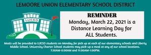 Distance Learning  - March 22, 2021