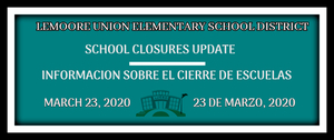 March 23 School Closure Update