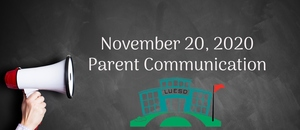 November 20  Parent Communication