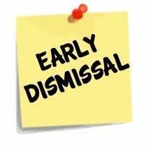 Early Dismissal signage