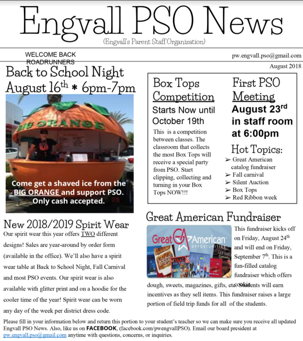 Engvall PSO August Newsletter