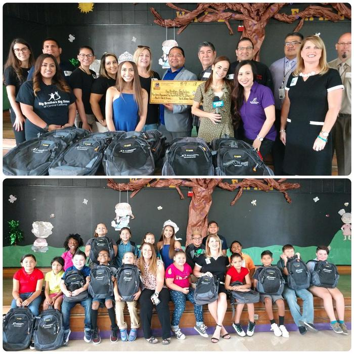 LE BBBS and Tachi Palace Backpack donations