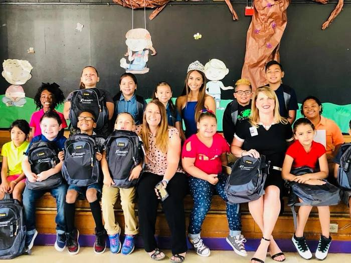 Lemoore Elementary Students with Backpacks