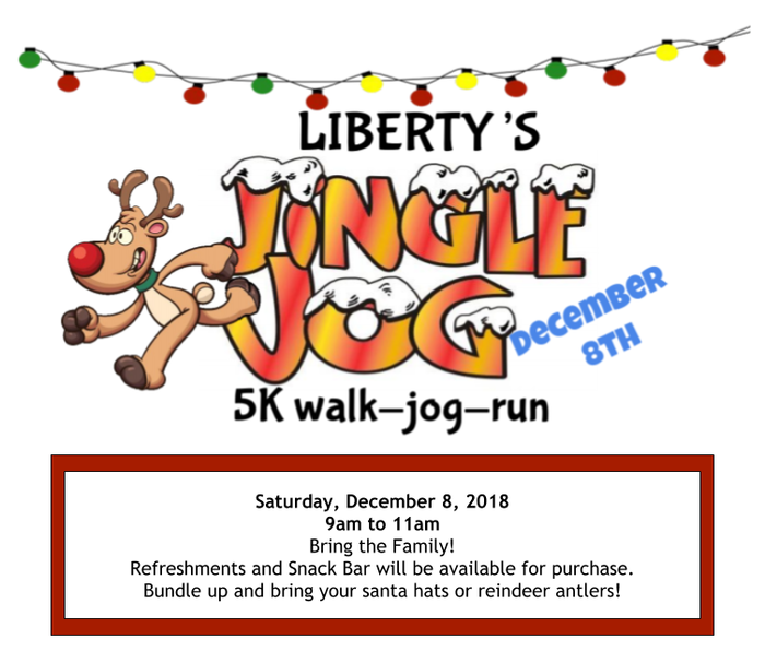 Jingle Jog flyer December 8th