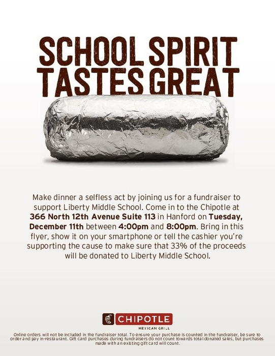 Chipotle fundraiser 12/11 flyer