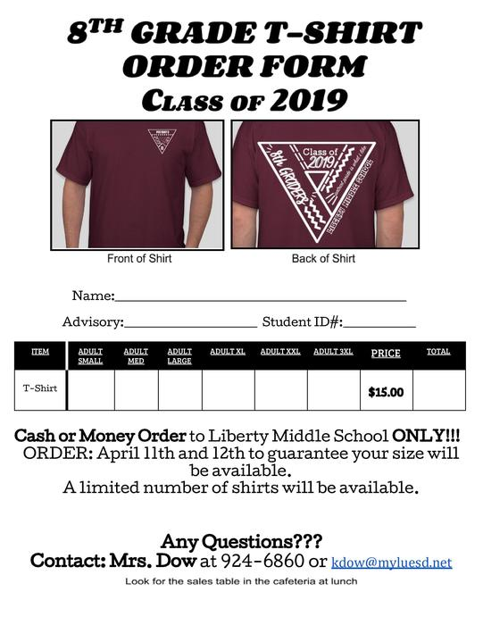 2019 - 8th Grade Tshirt