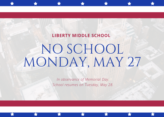 No School may 27 memorial day
