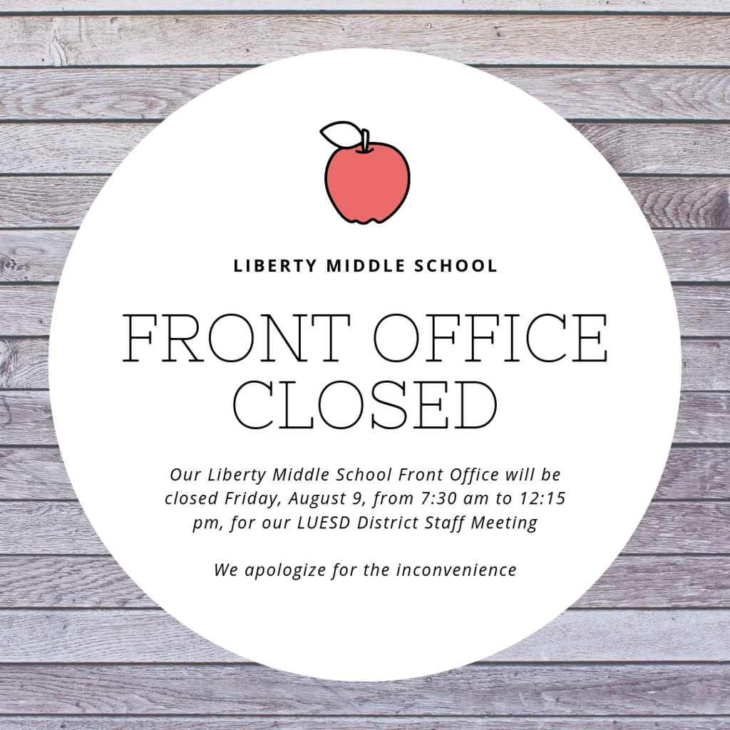 Office closed 8/9 from 7:30am to 12:14pm