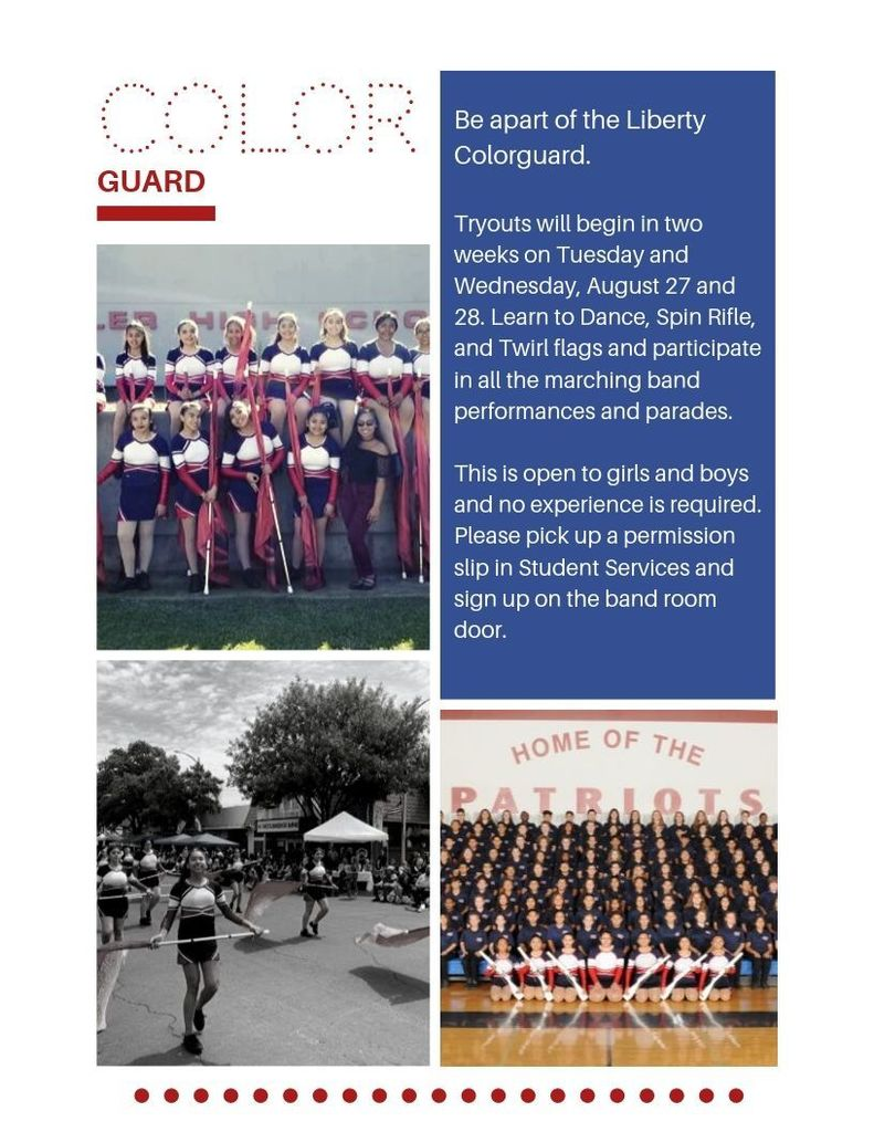colorguard tryouts 2019