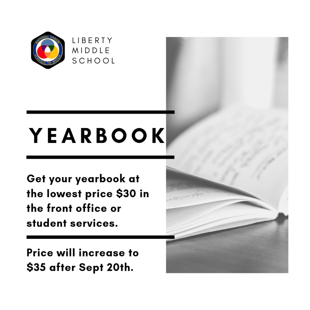 Yearbook price increase $35 after Sept 20