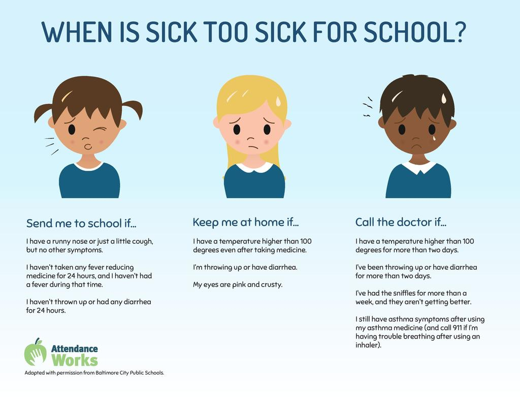 Too sick for school? English