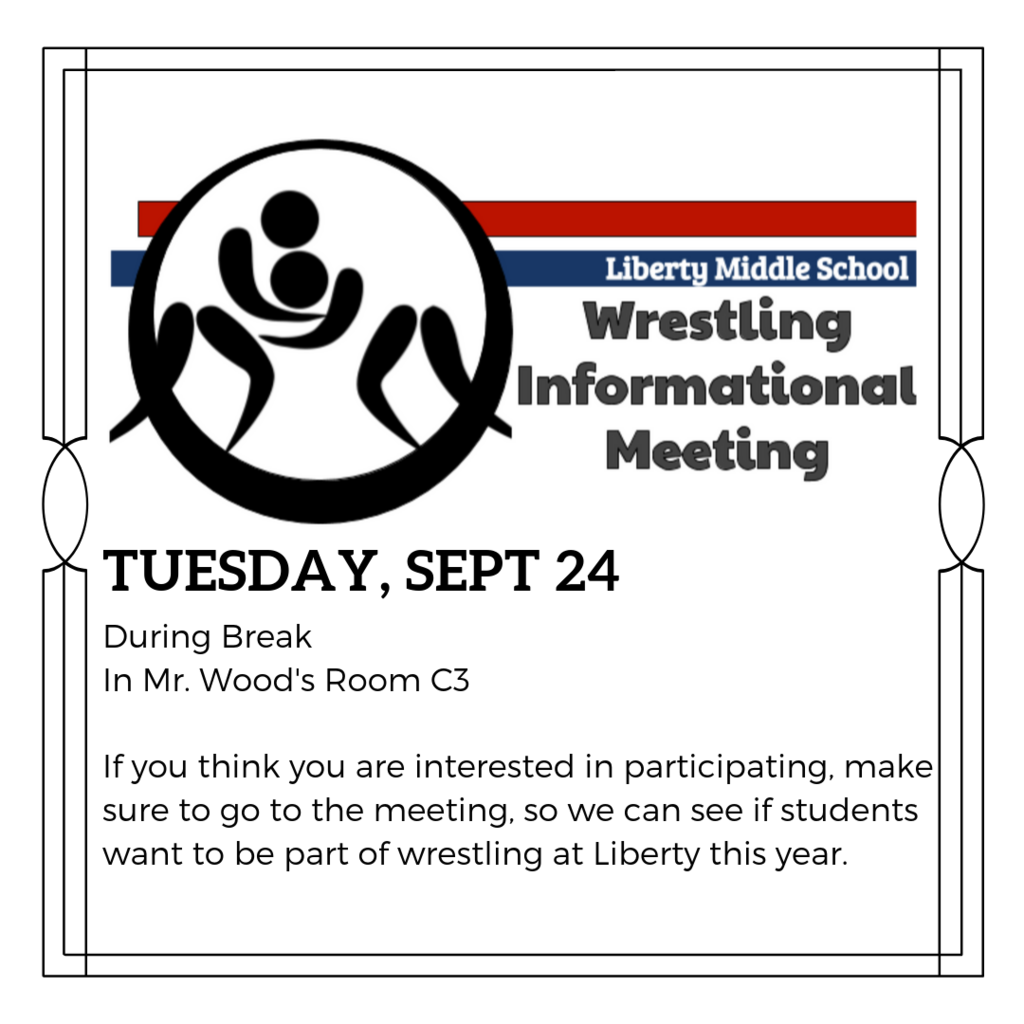 Wrestling meeting 9/24 at break in c3