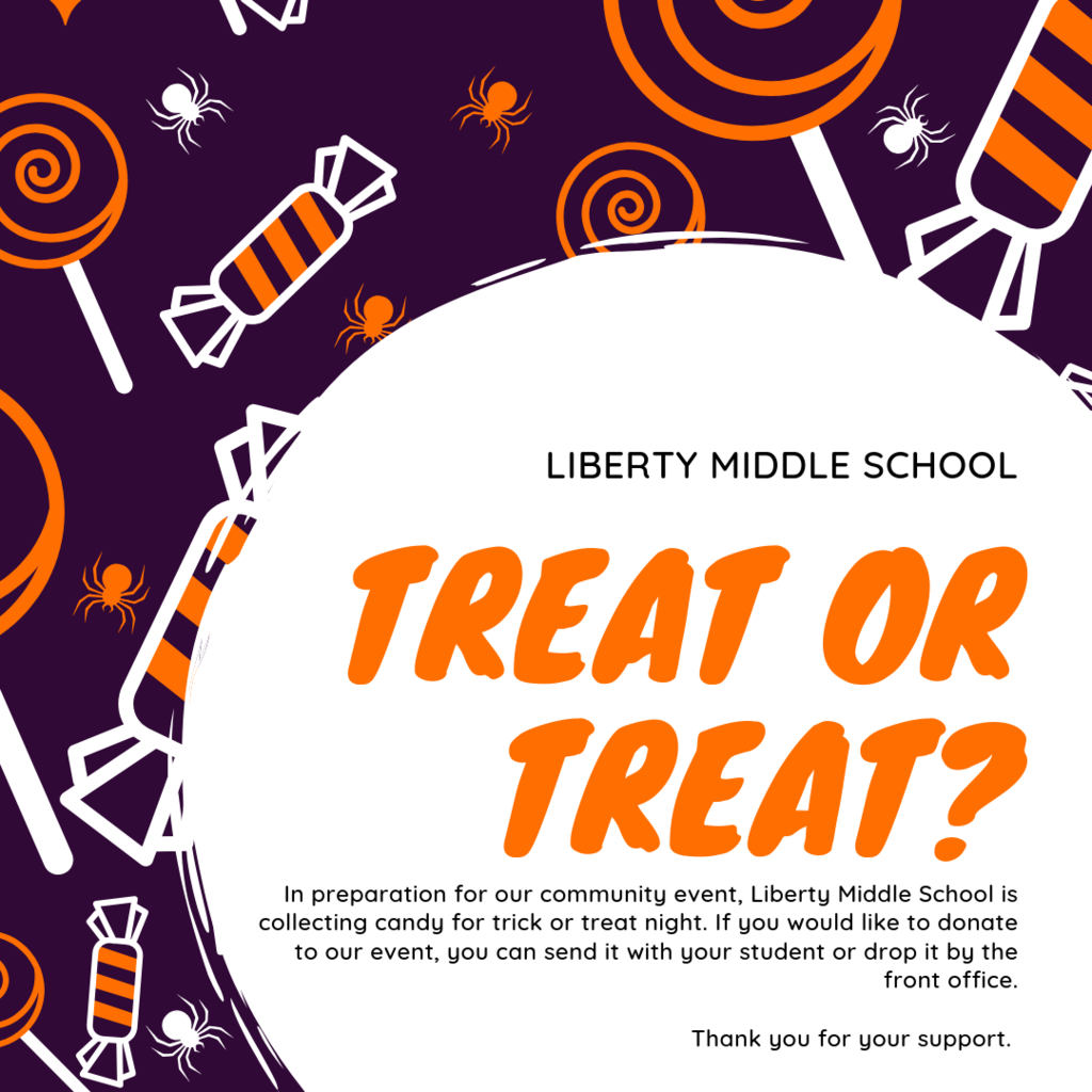 Trick or treat night 10/18 candy donations