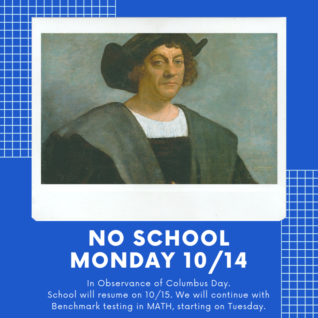 Columbus Day no School 10/14