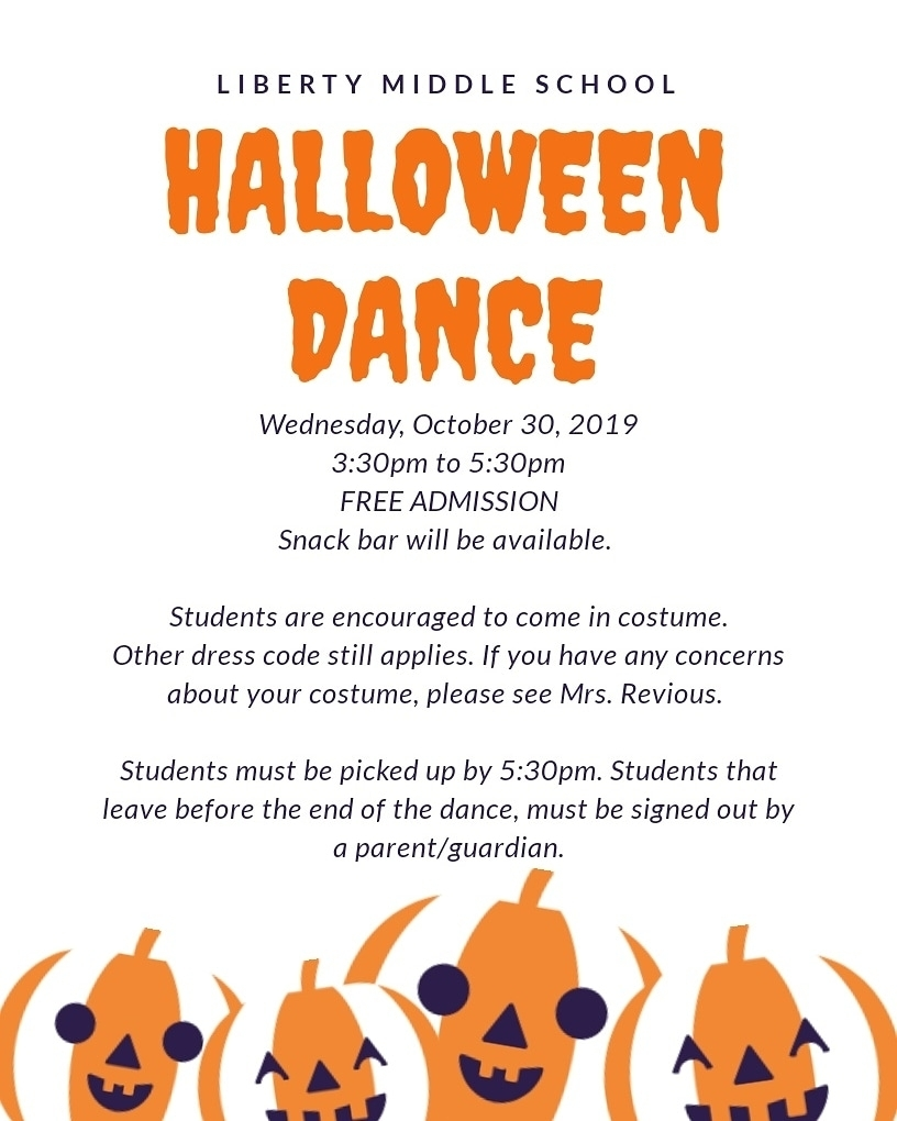 Halloween dance flyer 10/30