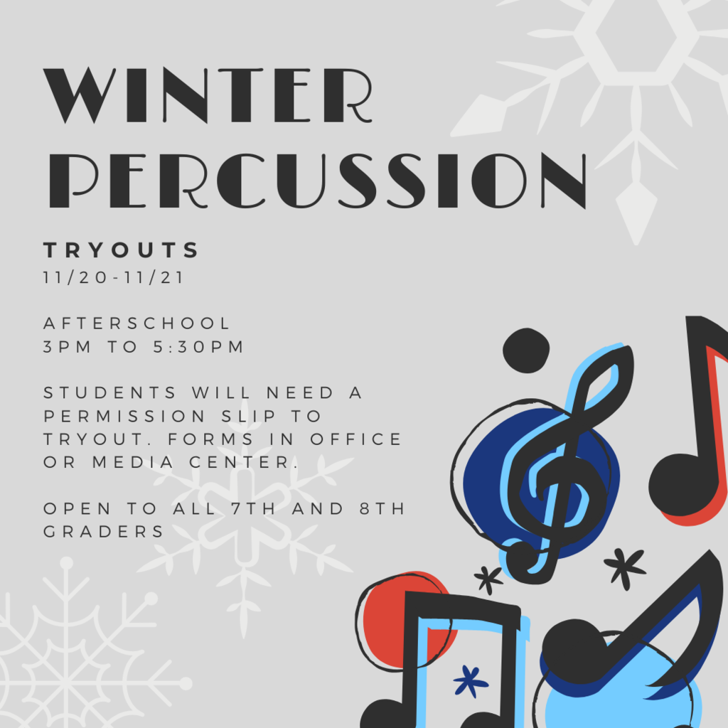 Winter percussion tryouts