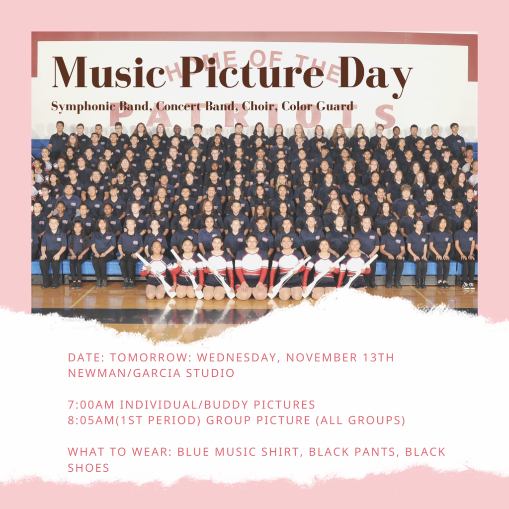 Picture day Music 11/13