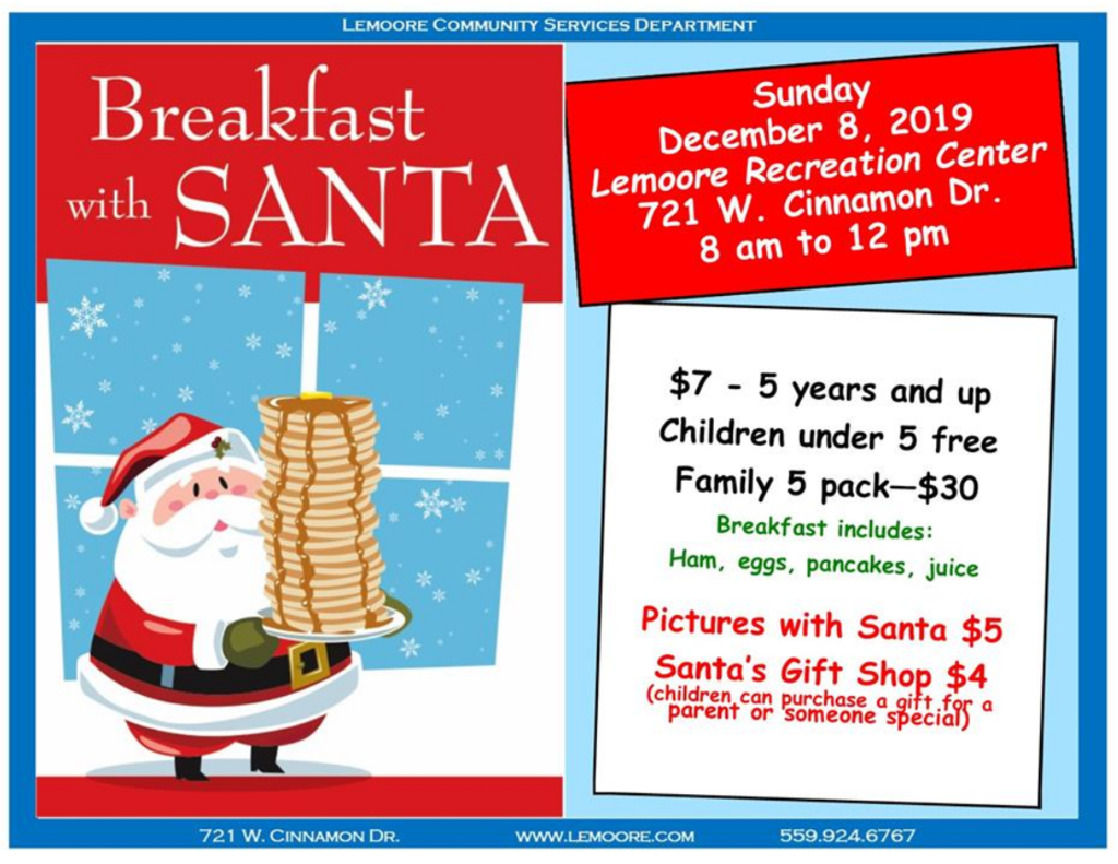 breakfast with santa 12/8
