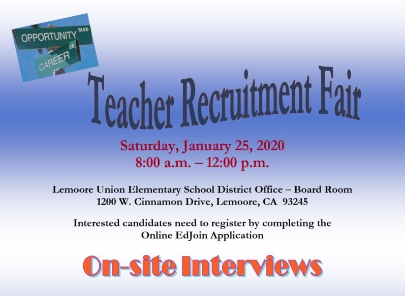 Teacher Recruitment Fair Announcement