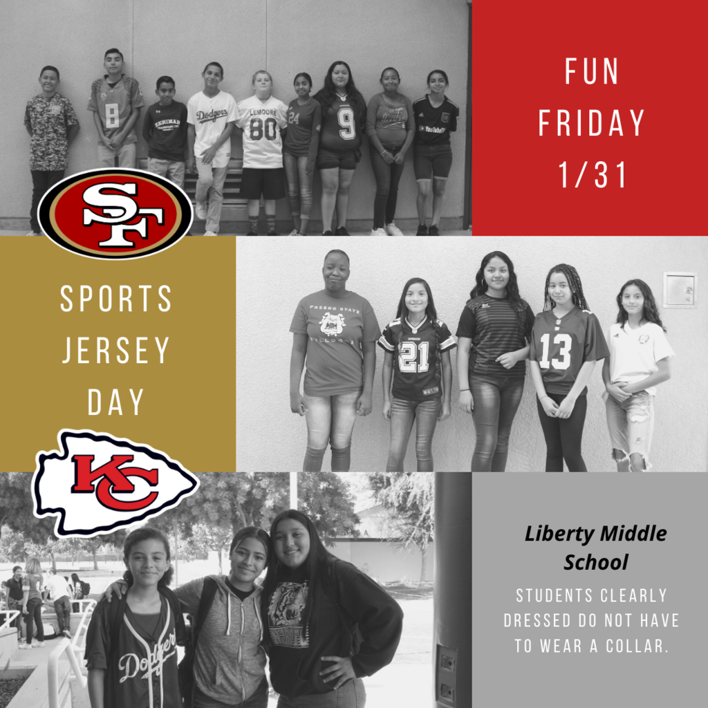 1/31 Fun Friday Jersey Day