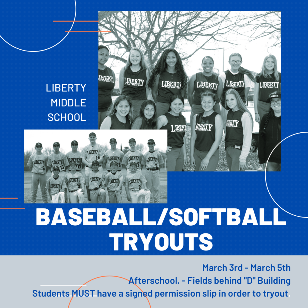 Baseball Softball Tryouts 3/3-3/5