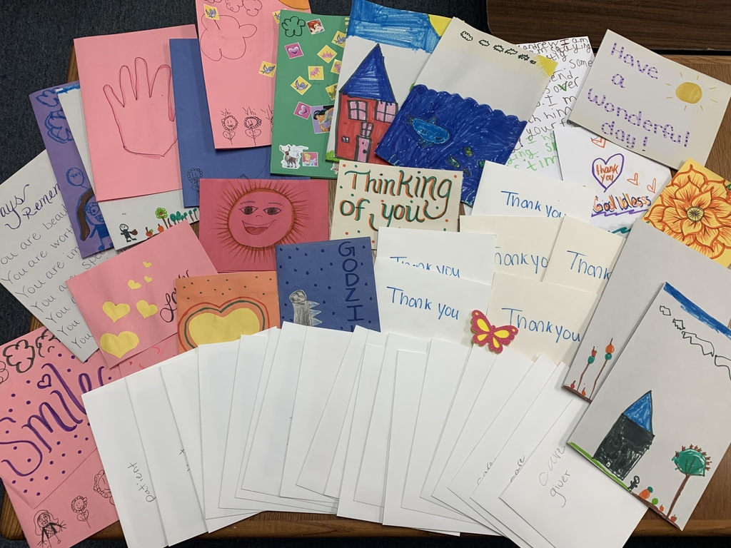 thank you cards and pictures drawn by children