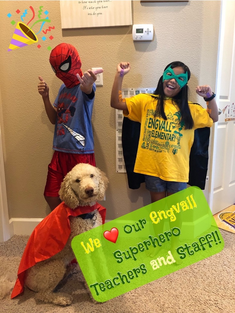 Superhero Day, students dressed up