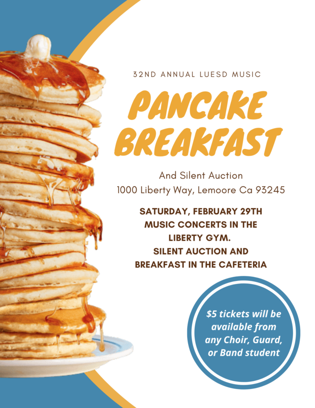 32nd Annual LUESD Music Pancake Breakfast