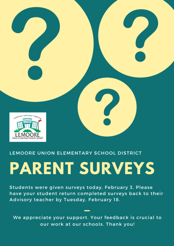 LUESD Parent Surveys