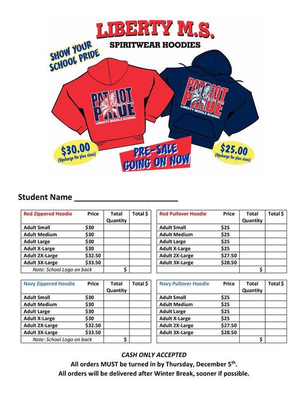 Liberty winter Spiritwear Preorder
